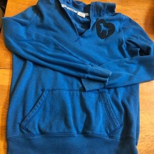 PINK blue hoodie in good condition sz Small retro